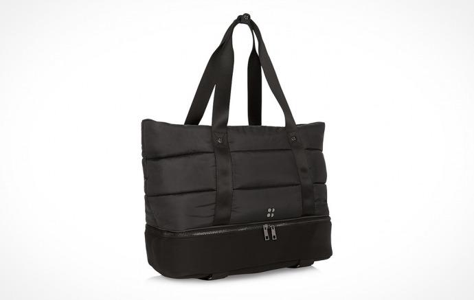 Sweaty Betty black Luxe Gym Bag