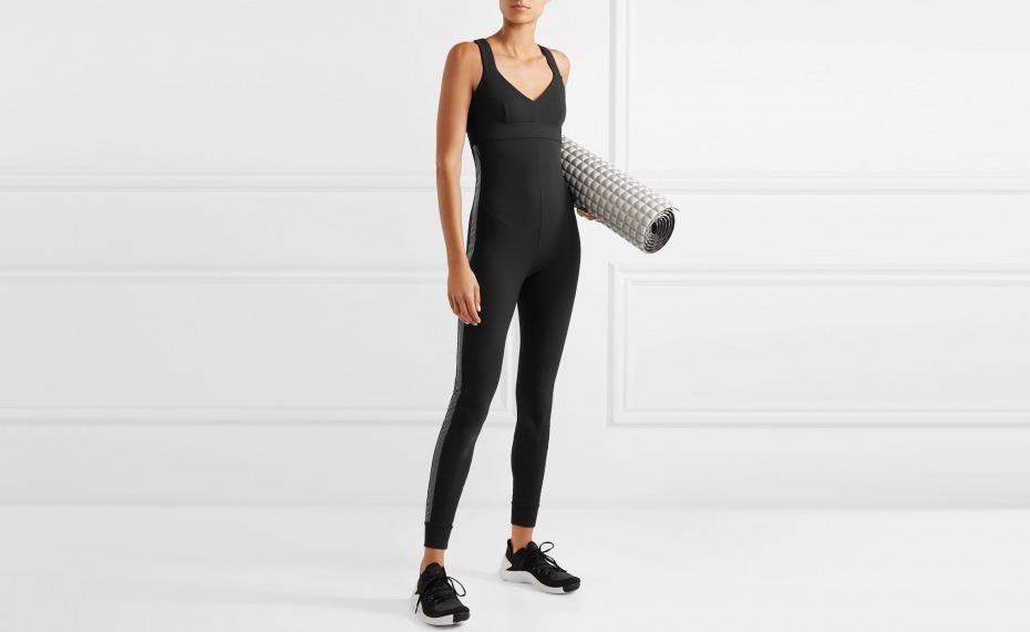 NO KA'OI Laiki Stretch-piqué Bodysuit