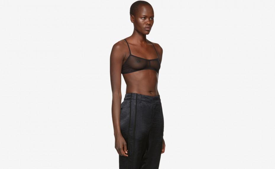 Ann Demeulemeester Black Soft Tulle Bralette - Everywearable