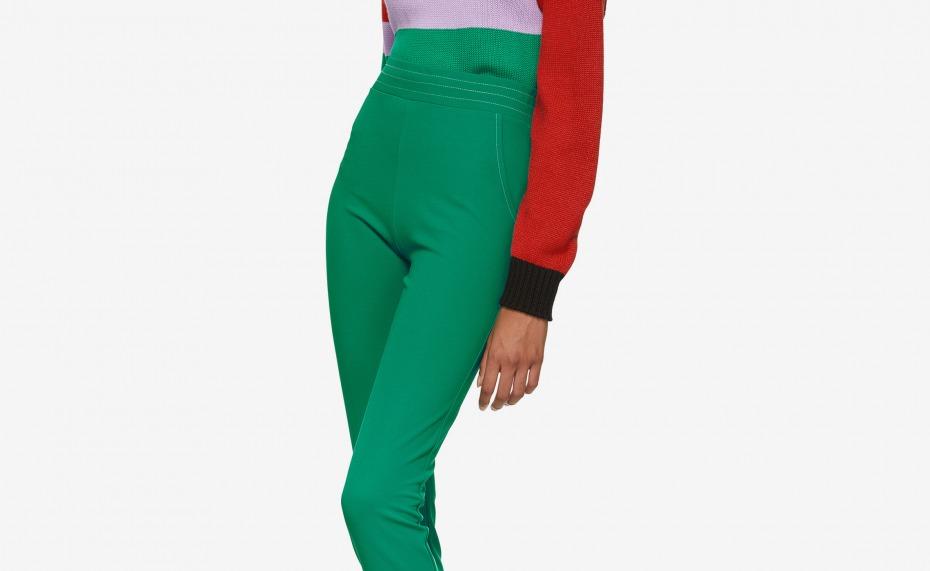 Anton Belinskiy Green Stretch Trousers - Everywearable