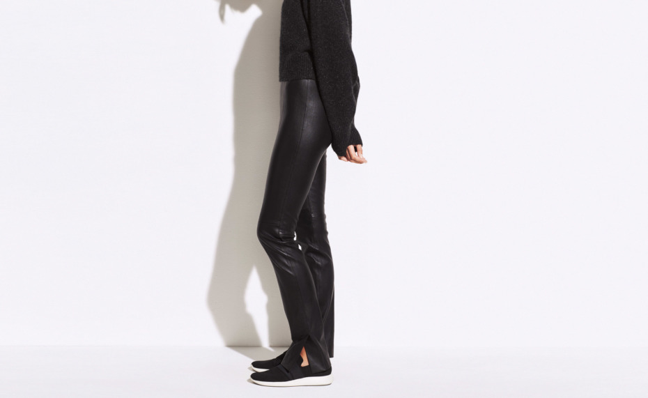 Vince Stitch Front Leather Legging - Everywearable